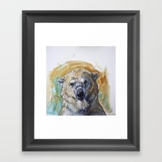 Polar Bear Portrait - Wistful Bear Framed Art Print