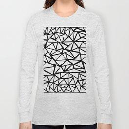 Mozaic Triangle White Long Sleeve T-shirt