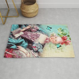 Madame butterfly Rug