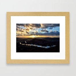 Looking Down at Lakeside - Windermere Framed Art Print