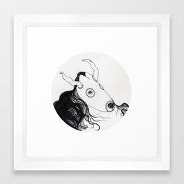 bull horse Framed Art Print