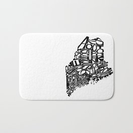 Typographic Maine Bath Mat