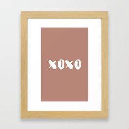 xoxo hugs and kisses Framed Art Print