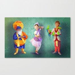 3 indians Canvas Print