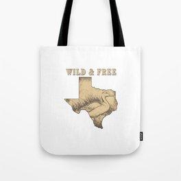 Wild and Free Texas Mallard Duck Tote Bag