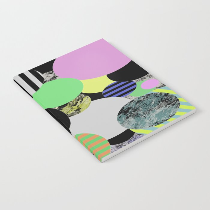 Cluttered Circles - Abstract, Geometric, Pop Art Style Notebook