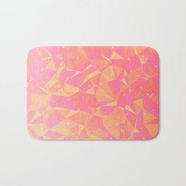 Sunny Flying Geometric Birds Design Bath Mat
