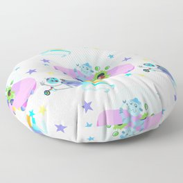 Outerspace Traffic Jam Floor Pillow