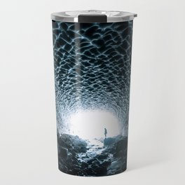 Glacial Ice Cave in the Mountains - Landscape Photography Travel Mug