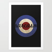 sarcasm Art Prints featuring Sarcasm by Sudjino