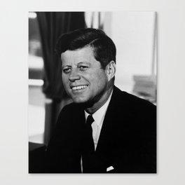 President John F. Kennedy Portrait Canvas Print