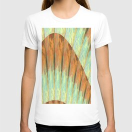 Decorative Pattern in Copper, Aqua and Yellow T-shirt