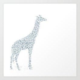 Chambray giraffe Art Print