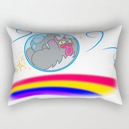 Cat on the Wind Rectangular Pillow