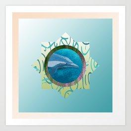 Sweet Dolphin Blues Art Print
