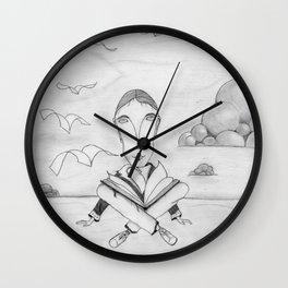 Reading enhances creativity Wall Clock