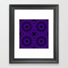 Purple Flowers Mandala Pattern Framed Art Print