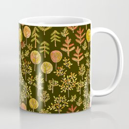Watercolor autumn forest in doodle style Coffee Mug