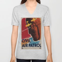 Vintage poster - Civil Air Patrol Unisex V-Neck