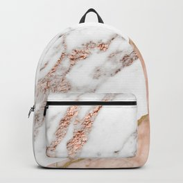 Marble rose gold blended Backpack