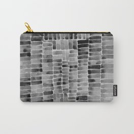 Watercolor abstract rectangles - black and white Carry-All Pouch