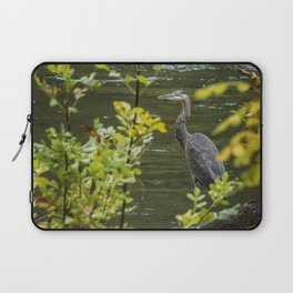 Great Blue Heron Through Autumn Leaves Laptop Sleeve