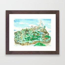 Spot the Hero Framed Art Print