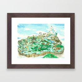 Spot the Hero Framed Art Print