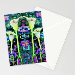 ARTY ART NOUVEAU CALLA LILIES DESIGN Stationery Cards