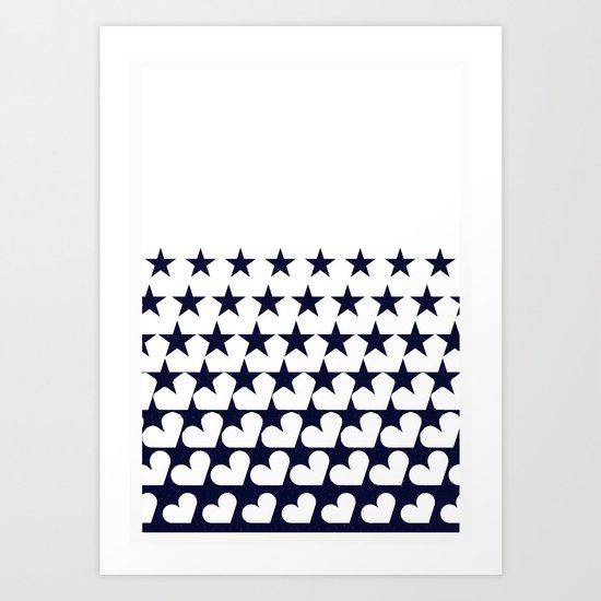 Love Among Stars Art Print