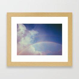 Dreamy Double Rainbow Framed Art Print