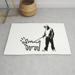 Banksy Choose Your Weapon Artwork Street Art, Design For Posters, Prints, Tshirts, Men, Women, Kids Rug