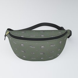 Roly Poly Party! Zebra on Green Fanny Pack