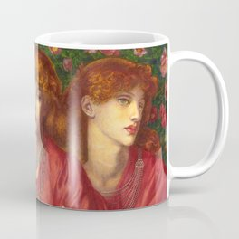"Dante Gabriel Rossetti ""Rosa Triplex: A triple portrait of May Morris"" Coffee Mug"