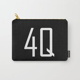 4Q - Fuck You - Chat Shorthand - Fun Acronyms - Typography Sarcasm Carry-All Pouch