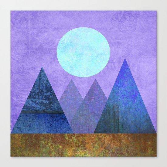 Take Me Away, Mountains, Full Moon Canvas Print