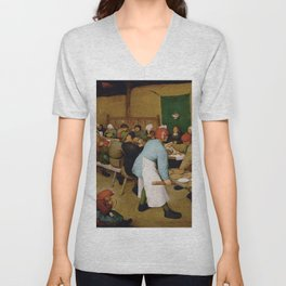 Peasant Wedding Bruegel Unisex V-Neck