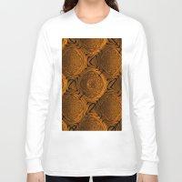 orange pattern Long Sleeve T-shirts featuring Power Pattern 04 orange by MehrFarbeimLeben