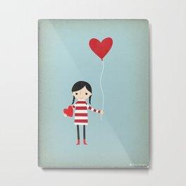 Love is in the Air - Girl Metal Print