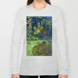 """Claude Monet """"Water lily pond at Giverny"""", 1919 Long Sleeve T-shirt"""