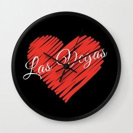 LOVE LAS VEGAS Wall Clock