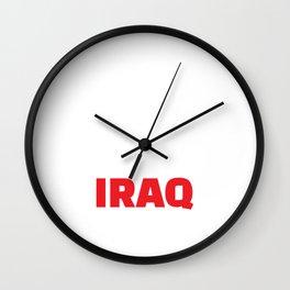 Straight Outta Iraq Wall Clock