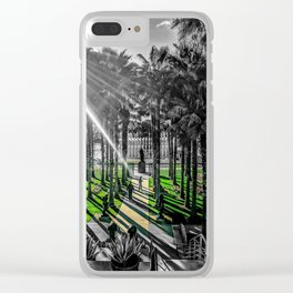 Los Angeles County Museum of Art With Urban Lights Public Art Color/Black & White Clear iPhone Case