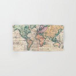 Vintage World Map 1801 Hand & Bath Towel