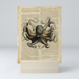 Book Art Octopus Color Mini Art Print