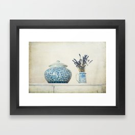 Lavender with Ginger Jar and Jug Framed Art Print