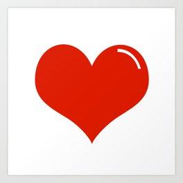 Heart Sticker Art Print