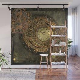 Awesome steampunk design, clockwork Wall Mural