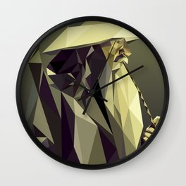Low Poly Gandalf Wall Clock