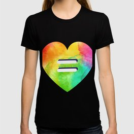 LGBT Love is Love Equality Rainbow Heart Equal T-shirt